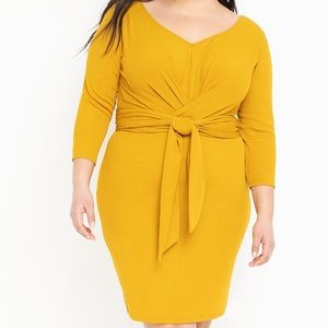 Eloquii Faux Wrap Dress